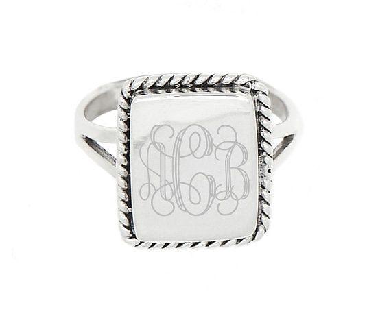 So cute!! https://www.etsy.com/listing/177694847/sterling-silver-monogram-custom-engraved