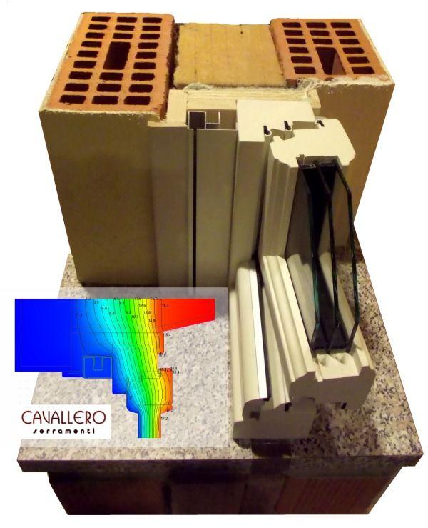 Schema Termografia posa installazione isolante intercapedine Cavallero Serramenti