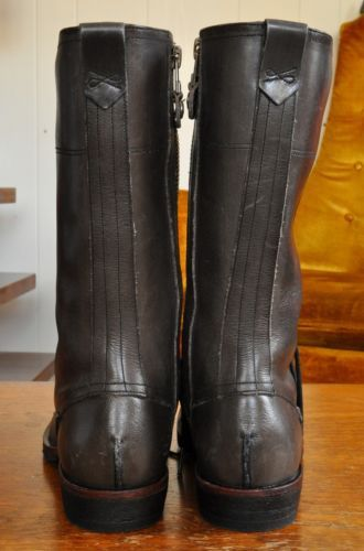 Timberland-Boot-Co-Lucille-10-034-tall-boots-black-gray-leather-6-NWOT-lace-zip-36