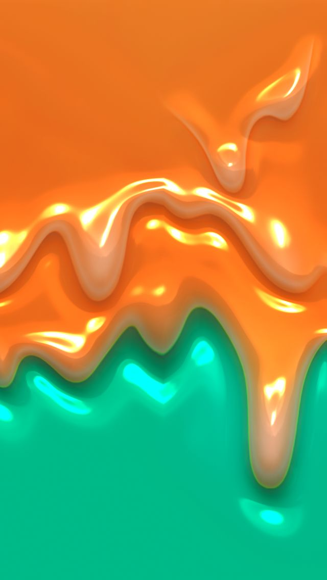 Orange Paint Dripping. Abstract iPhone wallpapers art paint. Tap to check out more iPhone wallpapers/background - @mobile9
