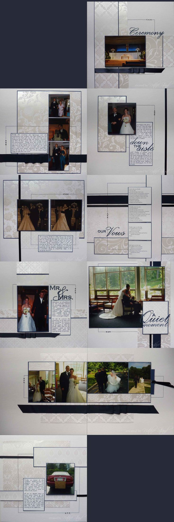 Vietnam scrapbook ideas - Wedding Scrapbook Album Ceremony Reception