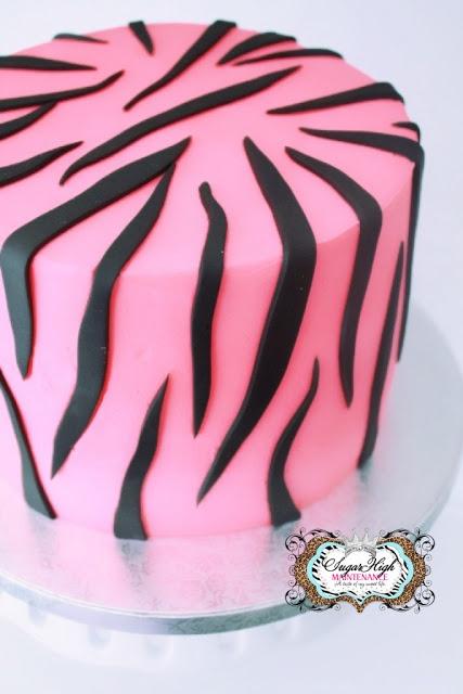 Buttercream Zebra Cake