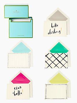 Hello Darling Stationery Set by Kate Spade...soooo CUTE!