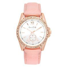 Pretty and perfect, just like Mom! Women's Leather Strap with Rhinestones Dial Watch #MothersDay #Gifts #PicturePerfect