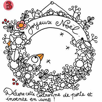 calendrier de l'avent coloriage l'atelier de la libellule
