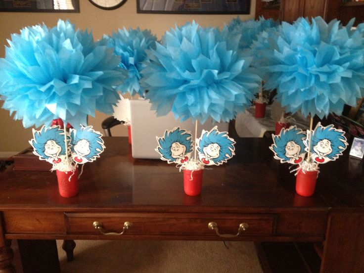 Thing 1 And Thing 2 Centerpieces
