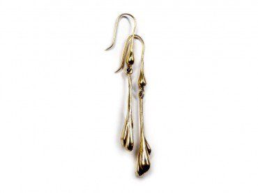 KAB Gallery | MAGMA Earrings  MAGMA Inspired Designer Earrings - Brass  Will match the MAGMA Series Necklace and pendants.  Buy online at KABGallery.com.au $70 incl. GST   Dripping Magma - designed in Australia  Hook Earrings