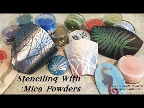Stenciling with Mica Powders-Polymer Clay Tutorial - YouTube
