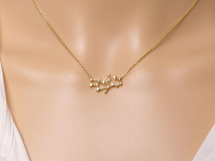 Virgo Constellation Necklace, Virgo Necklace, Zodiac Virgo,  Virgo Pendant, Constellation Jewelry,Gift idea,Zodiac jewelry by DearMia on Etsy https://www.etsy.com/listing/262800230/virgo-constellation-necklace-virgo