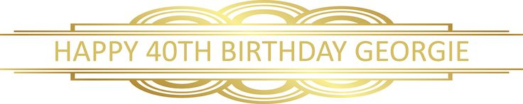 Gatsby Gold Party Personalised Banners - We Print Your Text
