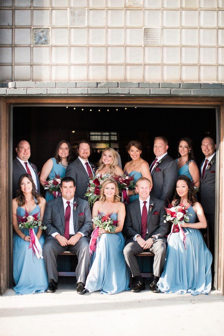 Nashville Wedding, Cranberry and Slate Grey