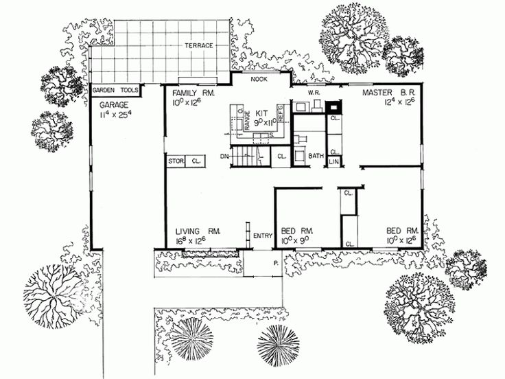 Floor Plan For 1000 Sq Ft Ranch House Exterior