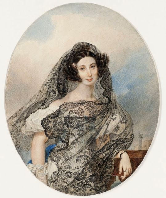 Karl Pawlowitsch Brjullow Portrait of Giovannina Pacini, the eldest daughter of the Italian composer Giovanni Pacini Pencil and watercolour on paper 1831