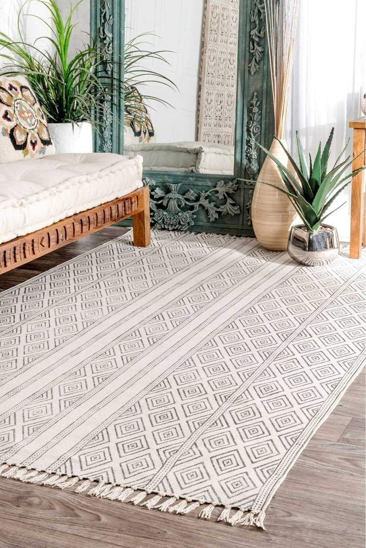 Nuloom Handmade Olvera Off White Area Rug Rugs In Living Room Contemporary Rugs Rugs Usa