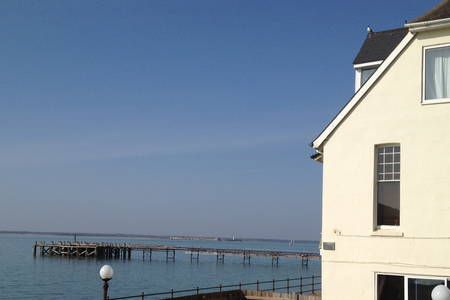 Check out this awesome listing on Airbnb: Seafront apartment spectacular view - Apartments for Rent in Totland Bay