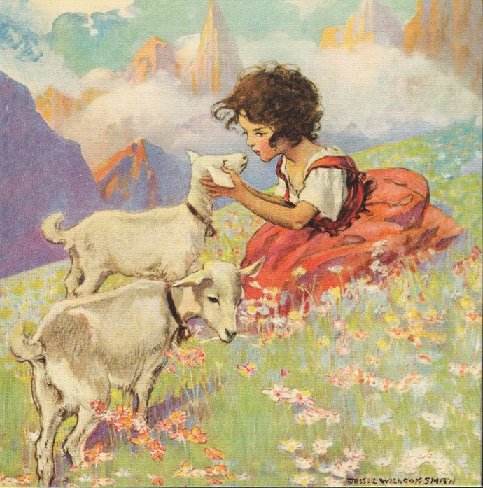 The Folklore Of Goats Heidi and the Goats by Jessie Wilcox Smith