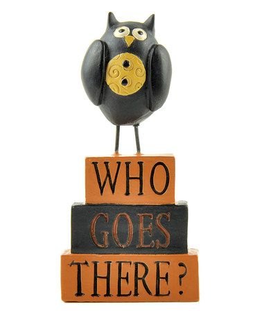 Another great find on #zulily! Who Goes There' with Owl by Blossom Bucket #zulilyfinds