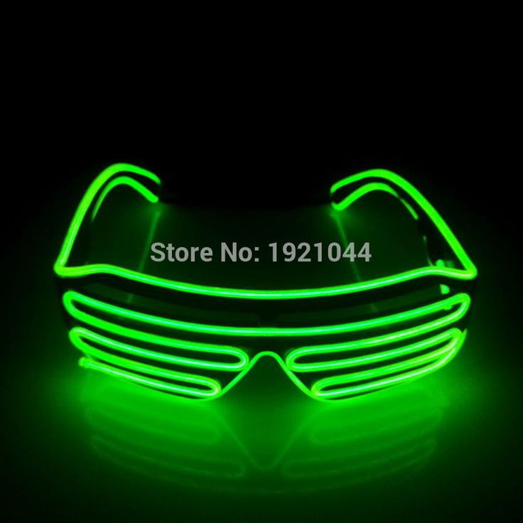 Cheap glasses for party, Buy Quality neon glasses directly from China led glasses for parties Suppliers: NEW Arrival Lemon Green EL Wire Neon LED Light Up Shutter Fashionable Glasses For Costume Dance DJ Festival Party Decoration
