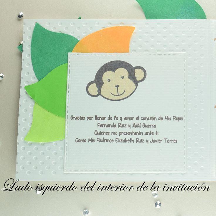 """Invitación para Bautizo y Baby Shower """"Changuito"""""""
