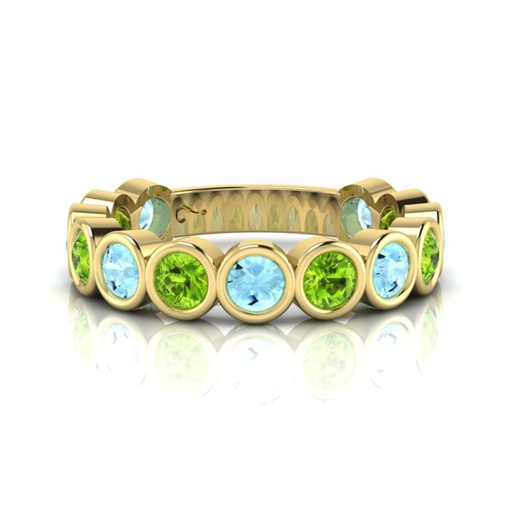 Silver Topaz and Peridot Ring. R2500 Product Code- WR00140