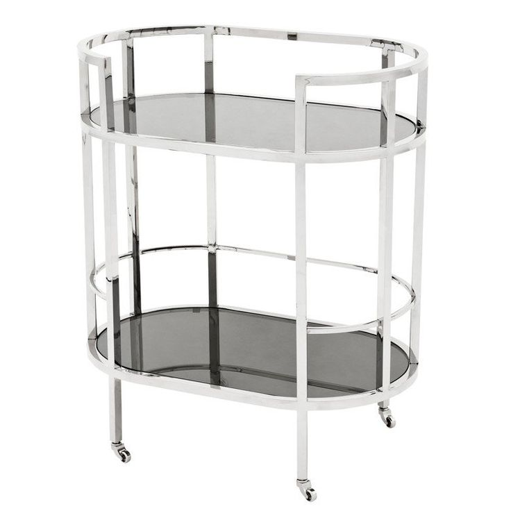 TOWNHOUSE SILVER TROLLEY  - Bar Carts - Tables - JAMES SAID