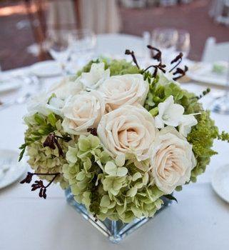 Wedding, Flowers, Reception, White, Green, Centerpiece, Brown, Orchids
