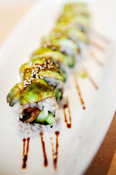 Dragon Roll the best kind of sushi out there