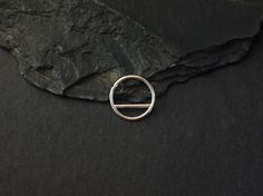 Silver Septum Ring - geometric septum - sterling silver - unique piercing ring - 16 g - 14 g -  by snakesninja - FREE US shipping