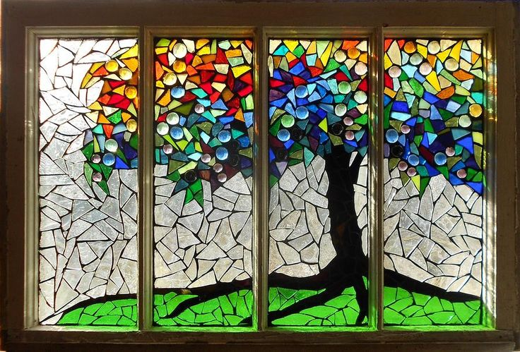 Mosaic Stained Glass - Roots Glass Art by Catherine Van Der Woerd