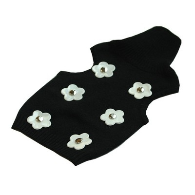 """Black reflective cashmere pullover """"Mary White"""" for very small dogs from Herald & Ic la Chic. https://www.facebook.com/heraldandic"""