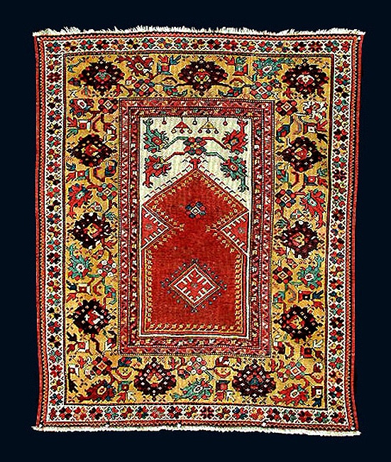 Beautiful Melas prayer rug early to mid 19th century