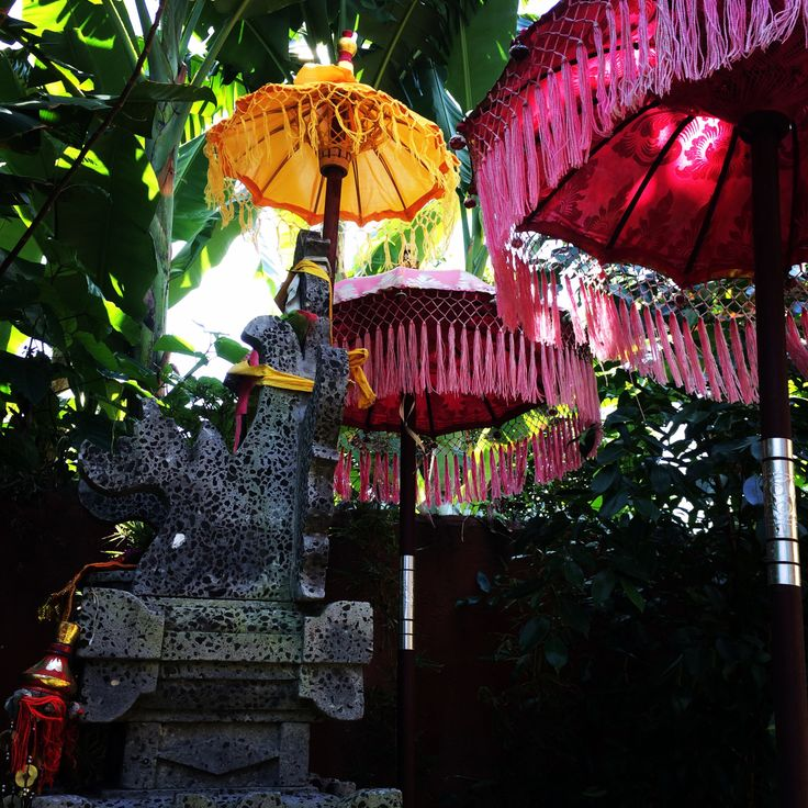 Balinese garden detail. indonesia