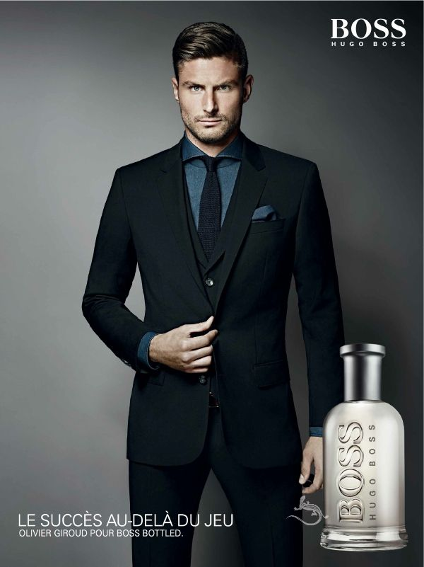 Olivier Giroud has agreed to an endorsement deal with Hugo Boss as the face of a campaign to promote the Boss Bottled men's fragrance brand. Description from myheartbeatsfootball.wordpress.com. I searched for this on bing.com/images