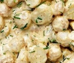 baba-aartappelslaai met jogurt suurroomsous