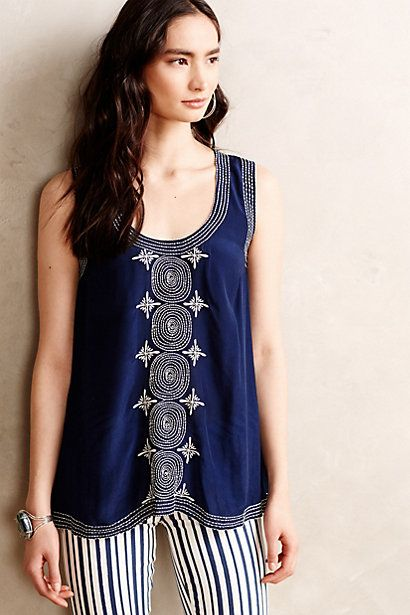 Chandani Embroidered Tank - anthropologie.com #anthrofave