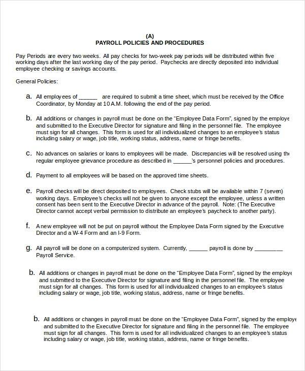 Policy Manual Templates 6 Free Printable Word Pdf Free Word