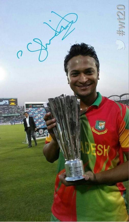 The Man of The Match: Shakib Al Hasan- match 1, group 1- #WT2014, T20 World Cup 2014 Bangladesh.
