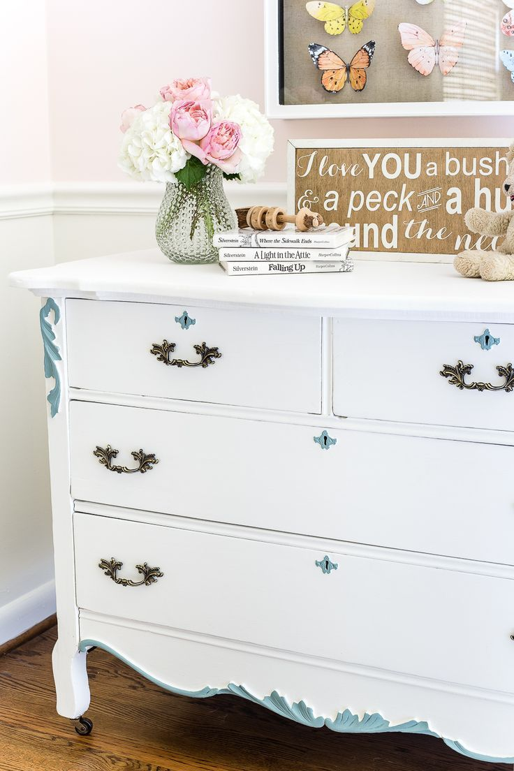 Aqua And White French Dresser Makeover | DESIGN | Girls Room | Pinterest |  Furniture, Dresser And DIY Furniture