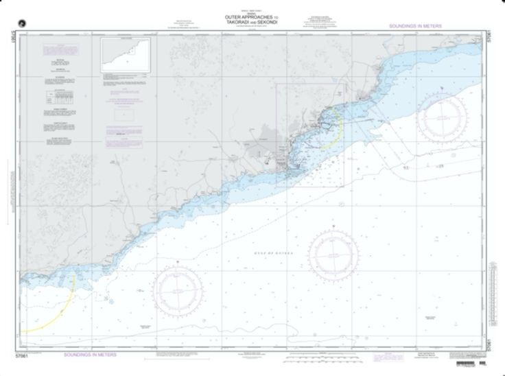 Approaches To Takoradi And Sekondi Nautical Chart (57061) by National Geospatial-Intelligence Agency