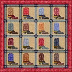 Cowboy Quilt Patterns | Steppin' High | Quilt Patterns & Blocks | Angie's Bits 'n Pieces