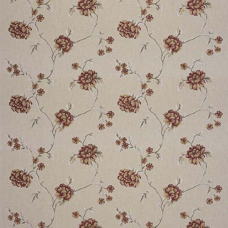 Warwick Fabrics : WINFIELD, Colour GARNET