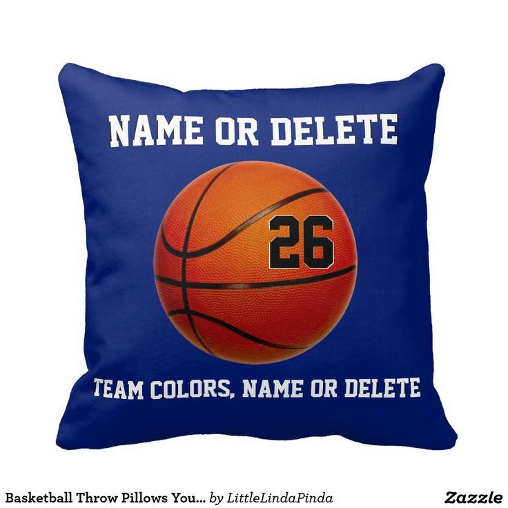 167 best basketball team gifts images on pinterest basketball basketball throw pillows your colors 3 text boxes personalized basketballbasketball giftsgirls negle Choice Image