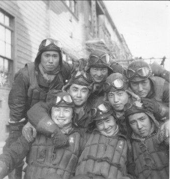 Kinose-san with kamikaze comrades.