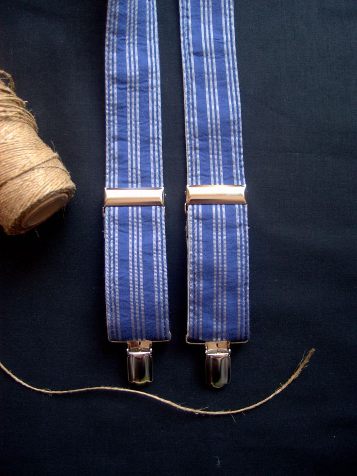 Elegant Mens Suspenders, Wedding Mens Braces,Reversable Suspenders,Blue Suspenders,Gift for him,Christmas gift by baboshkaa on Etsy $35