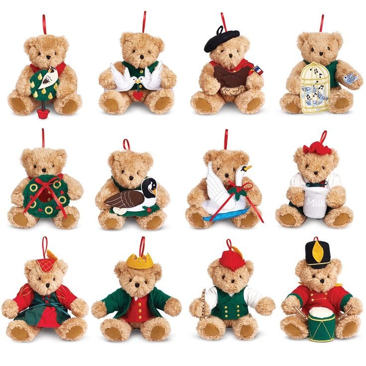 12 Days of Christmas Ornament Set | Christmas | Holidays | Vermont Teddy Bear Company