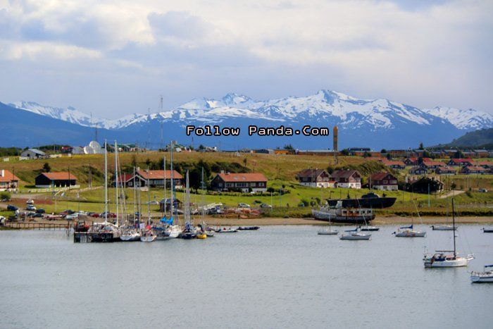 Ushuaia Port Skyline - Ushuaia, Tierra del Fuego, Patagonia, Argentina | FollowPanda.COM