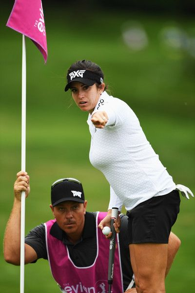 Gerina Piller Photos Photos - Gerina Piller of USA lines up a putt during the first round of The Evian Championship on September 15, 2016 in Evian-les-Bains, France. - Evian Championship Golf - Day One