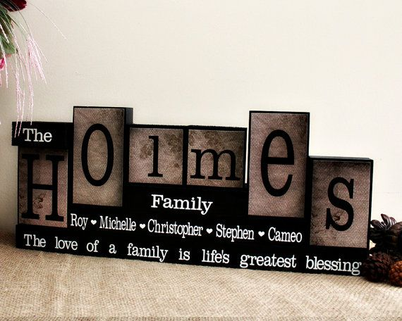 This set of personalized blocks allows you to effortlessly transform your home into a welcoming abode for family and friends alike. Featuring six