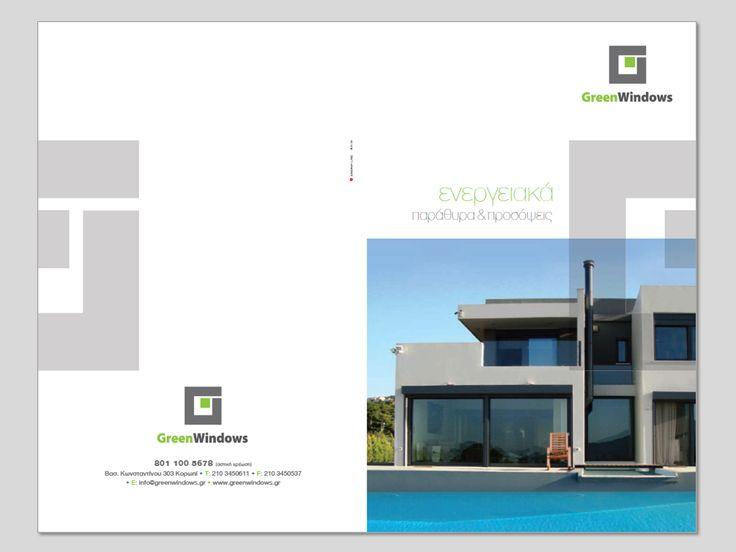 GREEN WINDOWS, New Branding, logo design, corporate id design, broshure & site template design.