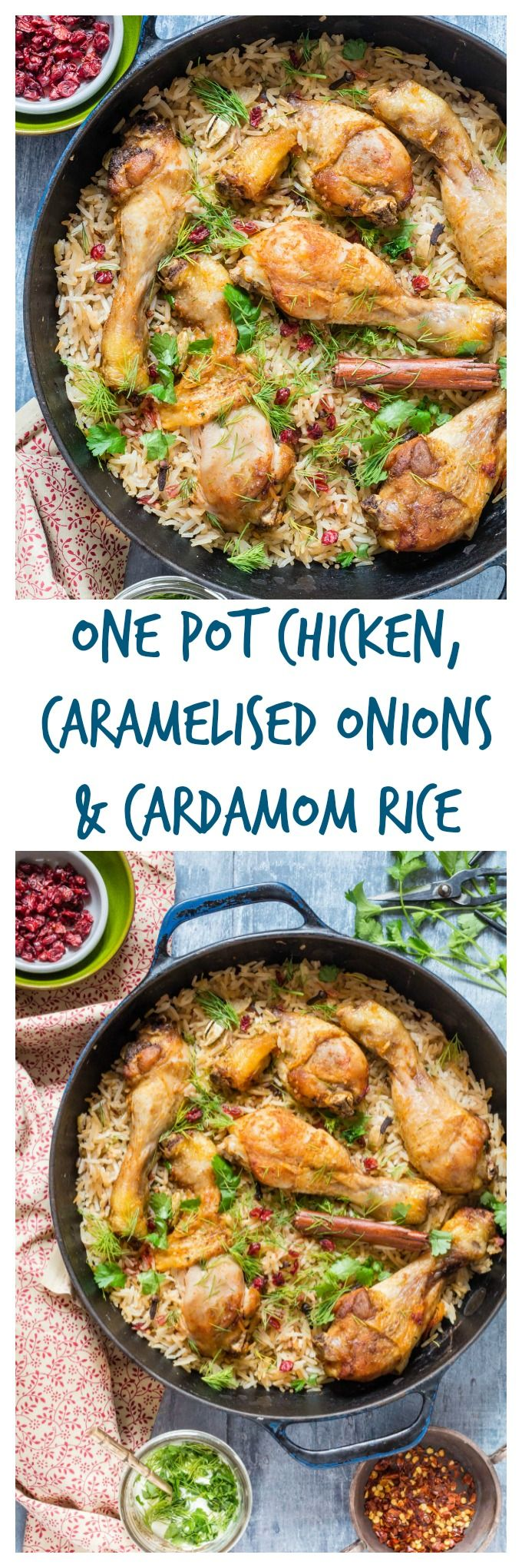 One Pot Chicken With Caramelized Onions, Cardamom And Barberry Rice   Recipes From A Pantry #onepotchicken #onepotrice #chickenrice